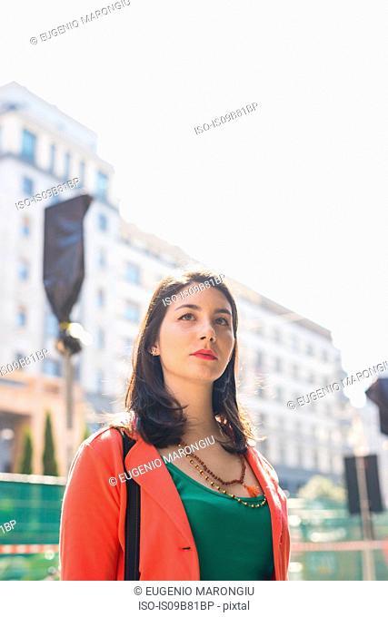 Woman on city break, Milan, Italy