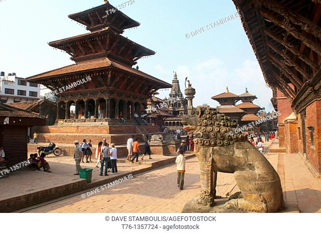 temple roofs in ancient Patan, near Kathmandu, Nepal
