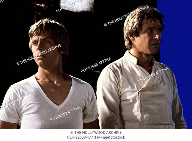 Mark Hamill and Han Solo on set in Star Wars: Episode VI: Return of the Jedi (1983)