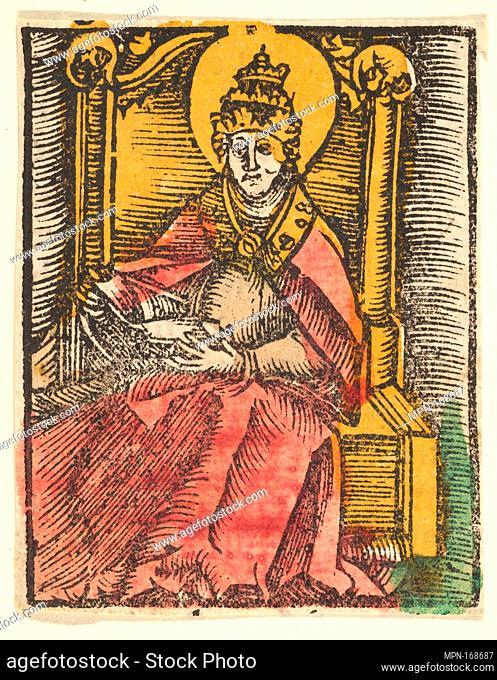 St. Gregory (copy). Artist: After Hans Baldung (called Hans Baldung Grien) (German, Schwäbisch Gmünd (?) 1484/85-1545 Strasbourg (Strassburg)); Date: after...