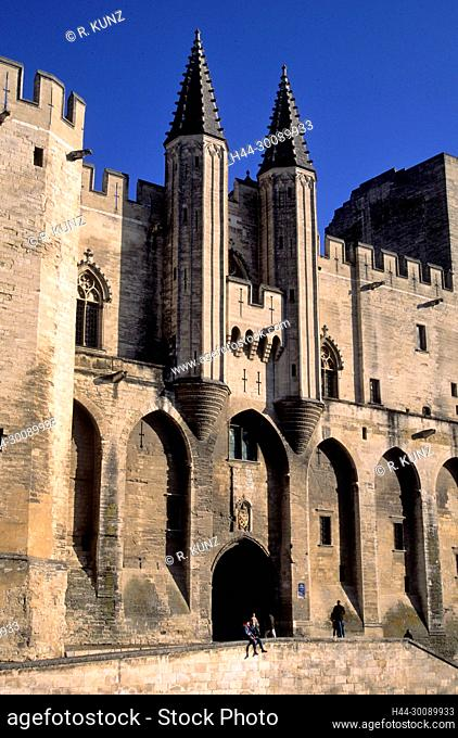 Palace of Pope, Avignon, Vaucluse department, Provence, France