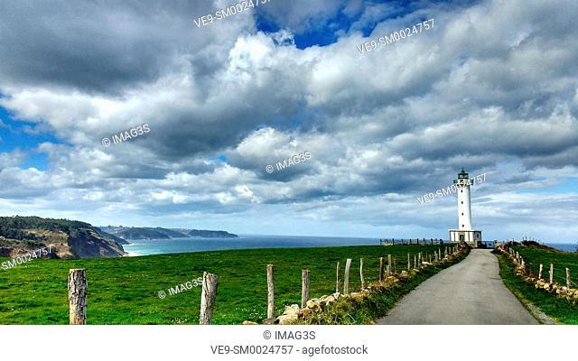 Luces lighthouse, Colunga municipality, Asturias, Spain