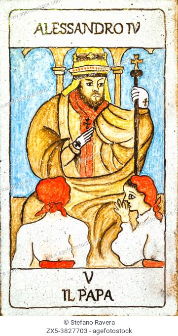 The Pope, Medieval tarot cards