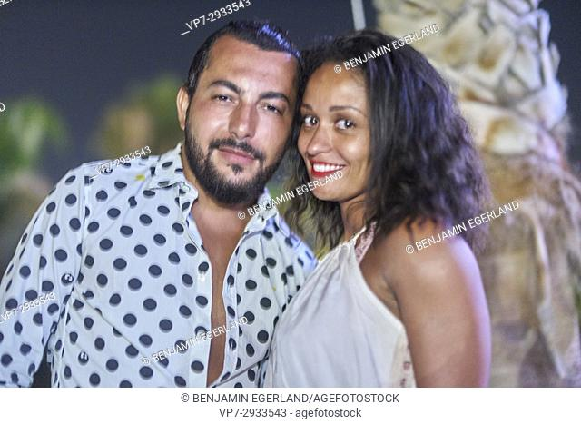French Rapper Lacrim attending Starbeach Beachflirt Festival with his girlfriend on 10. July 2017