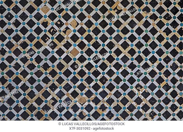 Detail, ornamentation, Medersa Abu al-Hassan, Sale, near Rabat, Morocco