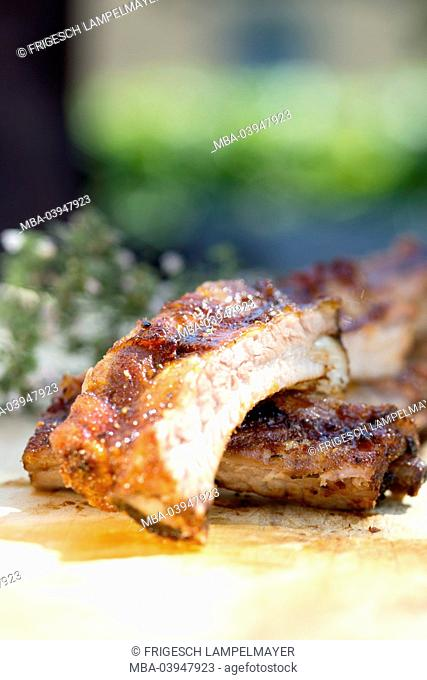 Spareribs, grilled