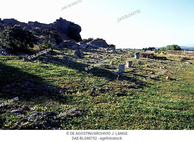 Tophet of the ancient city of Sulci, Sardinia, Italy. Punic civilisation
