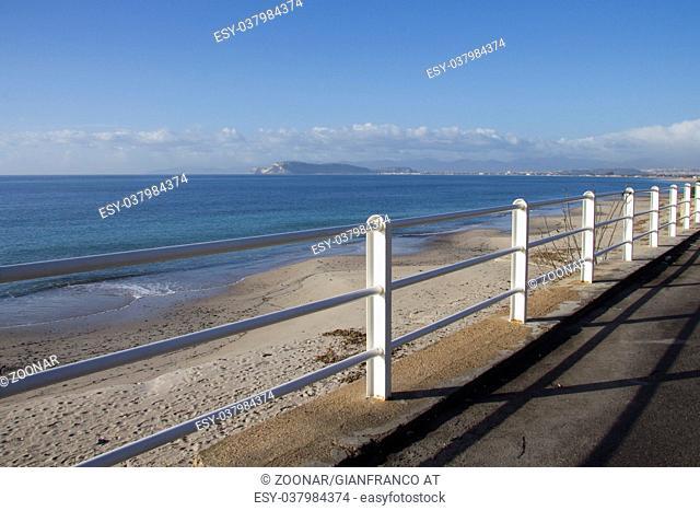 Poetto beach of Quartu