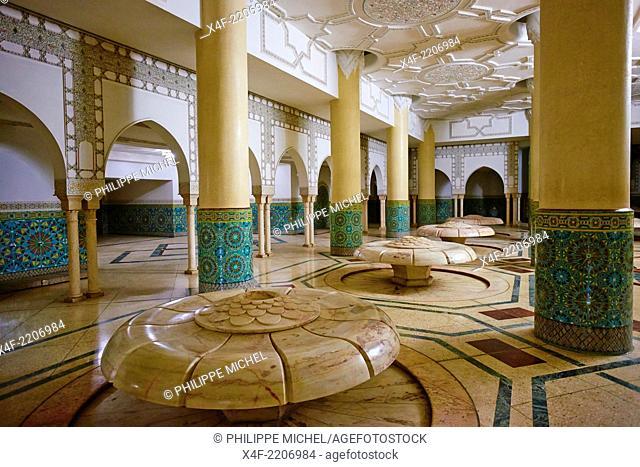 Morocco, Casablanca, Hassan II mosque