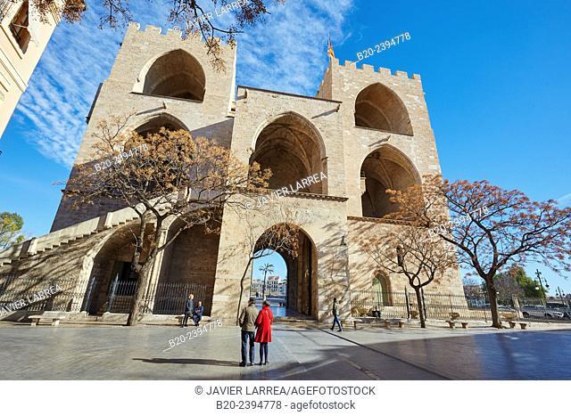 Torres de Serranos. Valencia. Comunidad Valenciana. Spain