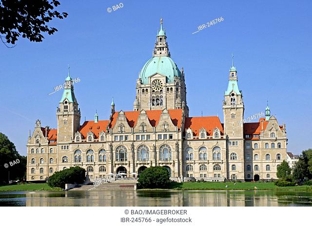The new townhall at Hannover, lower saxony, Germany