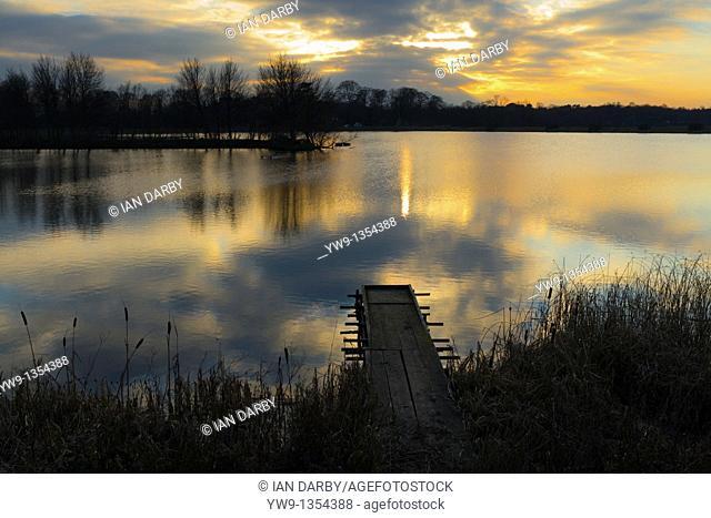 Gailey reservoir in Staffordshire