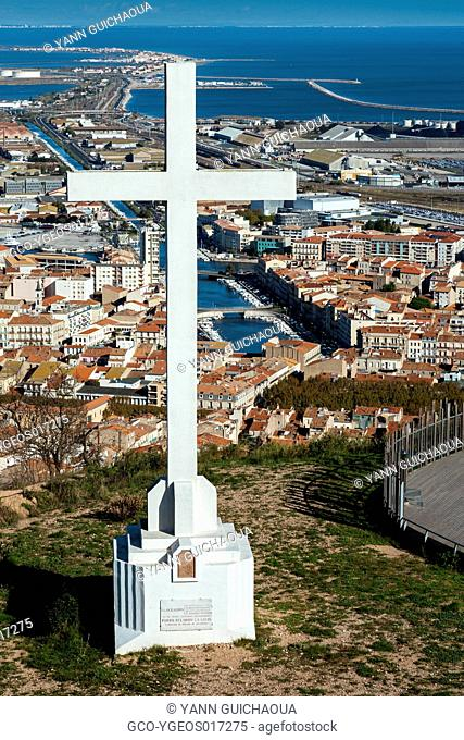 Sete from the Saint Clair hill, Herault, France