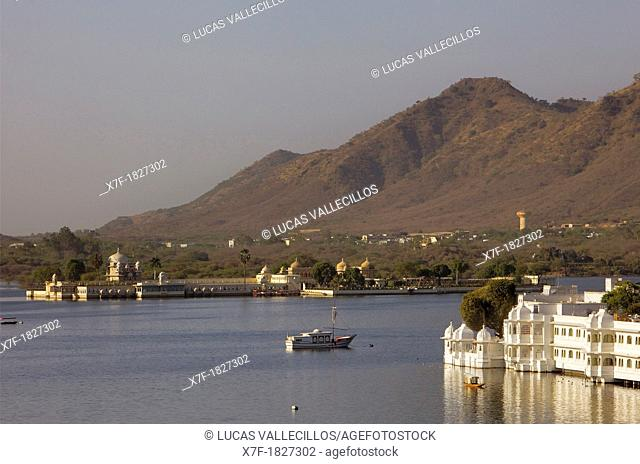 Jag Mandir Palace and Lake Palace Hotel, Lake Pichola,Udaipur, Rajasthan, india
