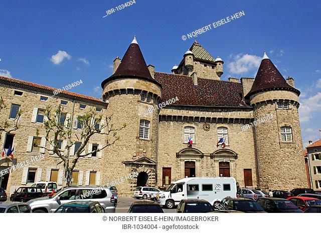 Castle, historical building, Ardèche, Rhône-Alpes, France, Europe