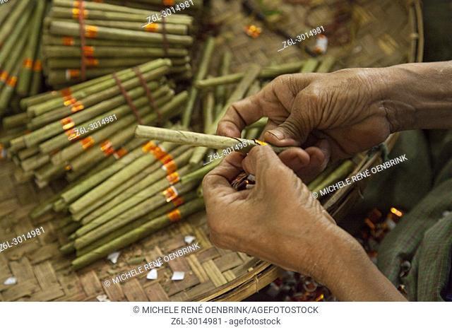 Cigar factory in Myanmar