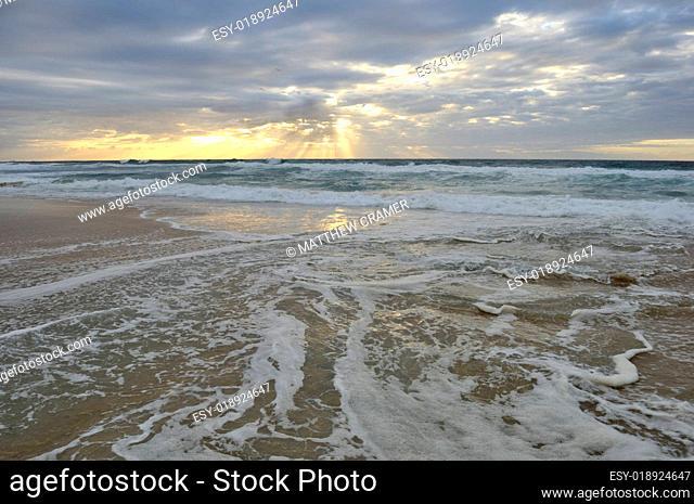 Morning beach wash