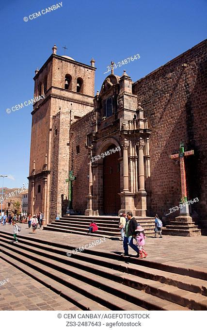 San Francisco church in Plaza San Francisco, Cuzco, Peru, South America