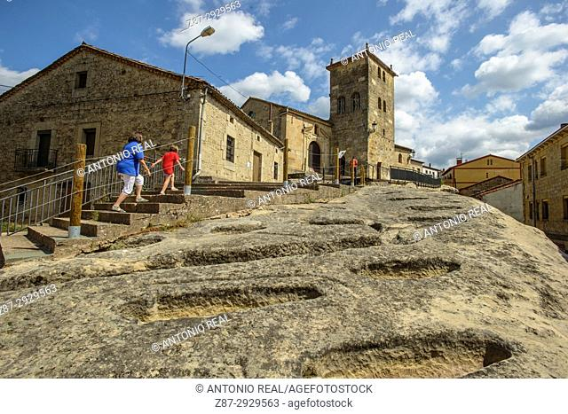 Necropolis. Regumiel de la Sierra. Alto Arlanza. Burgos province, Castile-Leon, Spain