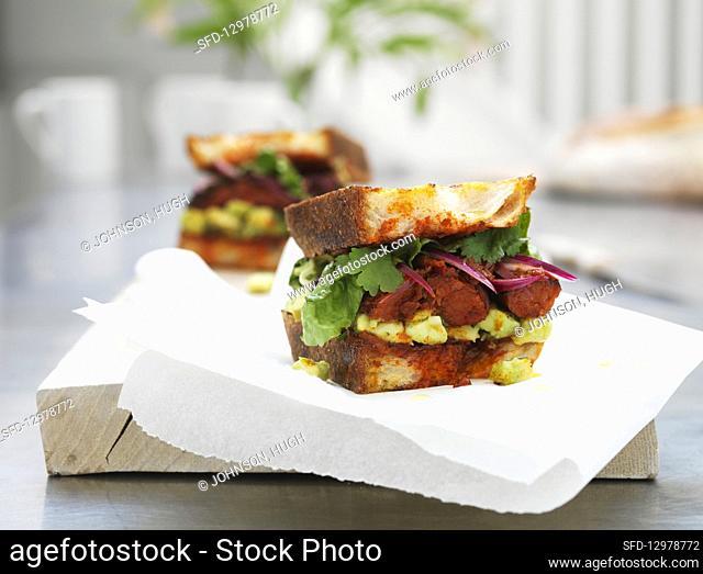 Mexican Club Torta Sandwich