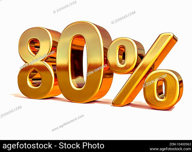 Gold Sale 80%, Gold Percent Off Discount Sign, Sale Banner Template, Special Offer 80% Off Discount Tag, Golden Eighty Percentages Sign, Gold Sale Symbol