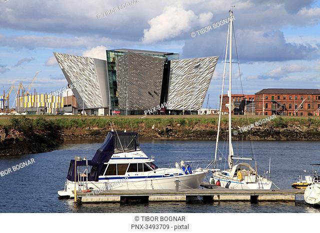 UK, Northern Ireland, Belfast, Titanic Belfast, Harbour Marina