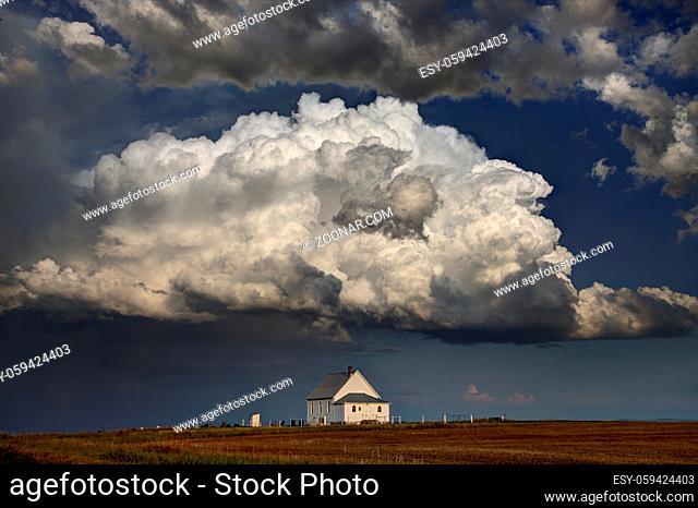 Prairie Storm Clouds in Saskatchewan Canada dramatic Scene