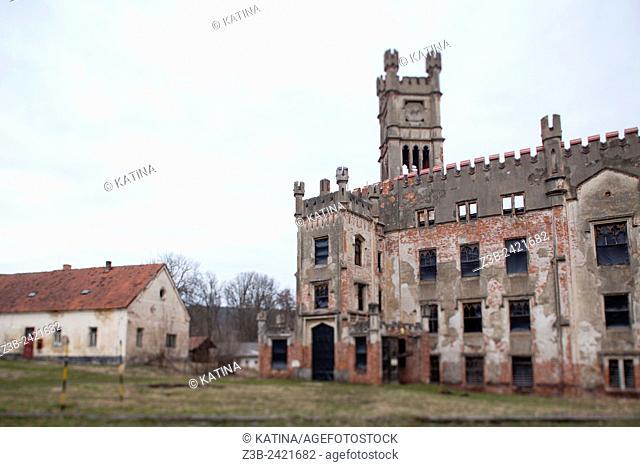 Malá Hluboká, a castle ruin in the southern Bohemia village of Cesky Rudolec, Czech Republic, Europe