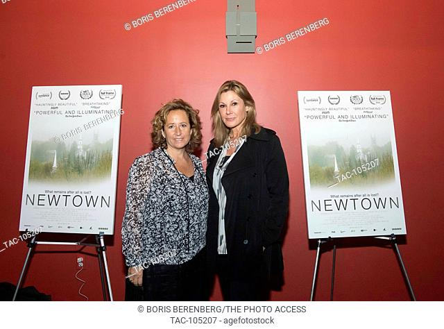 Kim A. Snyder and Maria Cuomo Cole at the premier of Newtown at the Landmark Sunshine Theater on October 7, 2016 in New York, New York