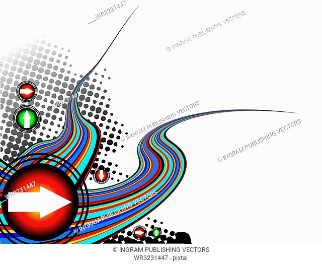 Abstract illustration with a rainbow effect and plenty of room to add your own text