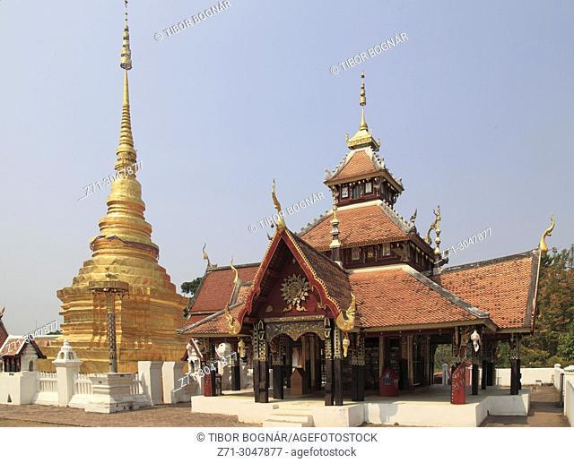 Thailand, Lampang, Wat Pong Sanuk Tai, buddhist temple,