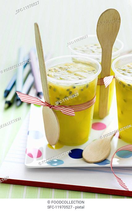 Flavoured pineapple jelly