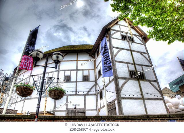 The Globe Theatre was a theatre in London associated with William Shakespeare. It was built in 1599 by Shakespeare's playing company, the Lord Chamberlain's Men