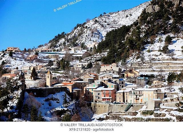 Village of Toudon, Alpes-Maritimes, Préalpes d'Azur regional natural park, Provence-Alpes-Côte d'Azur, France