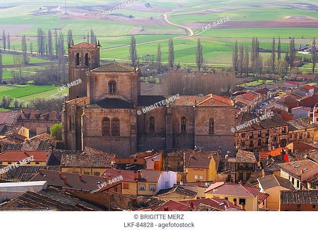 Cityscape of Penaranda de Duero and landscape, Castilla Leon, Spain