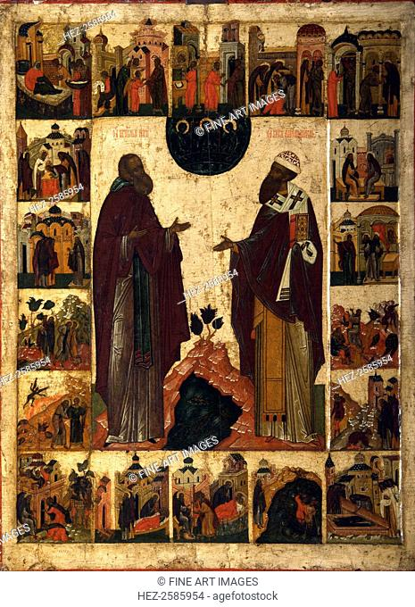 Saint Cyril of White Lake and Saint Cyril of Alexandria, second half of the 18th century. Russia, Moscow School. Found in the collection of the State Tretyakov...
