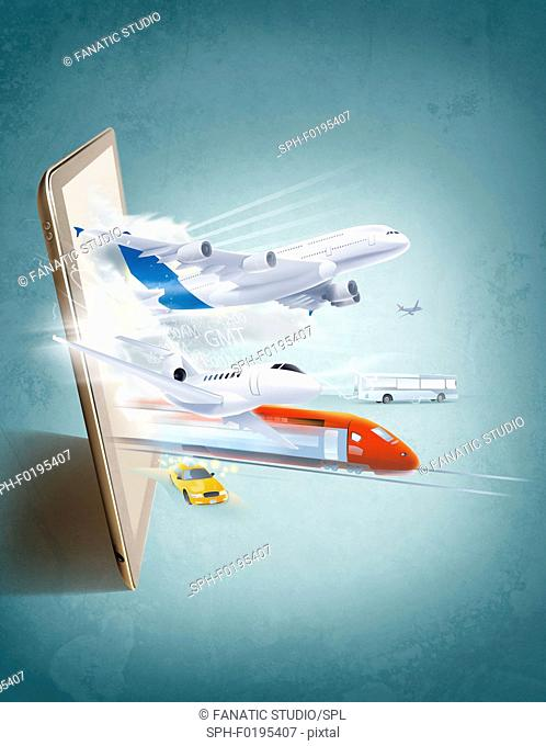 Illustration of online booking