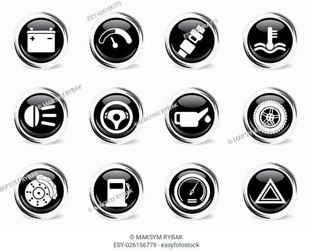 Car service icons set for web sites and user interface