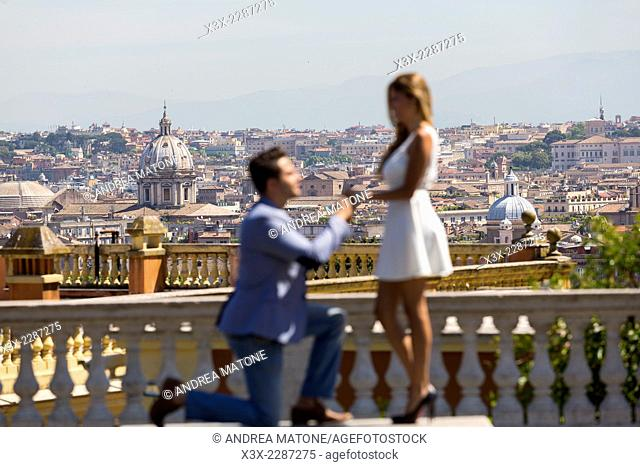 Wedding proposal in Rome, Italy