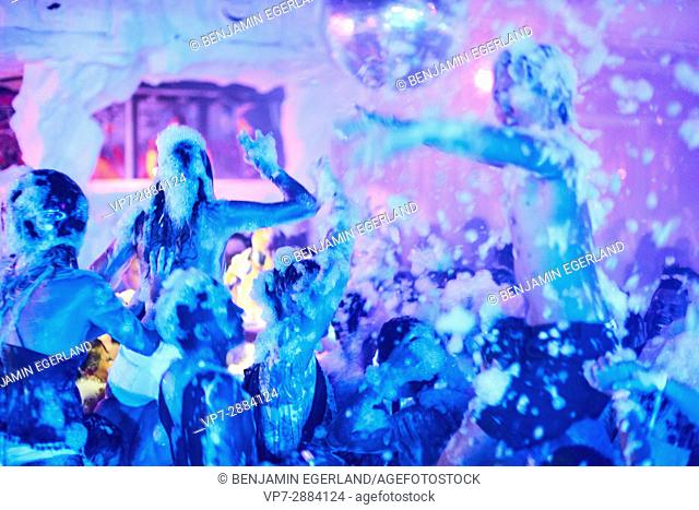 young people at wild foam party