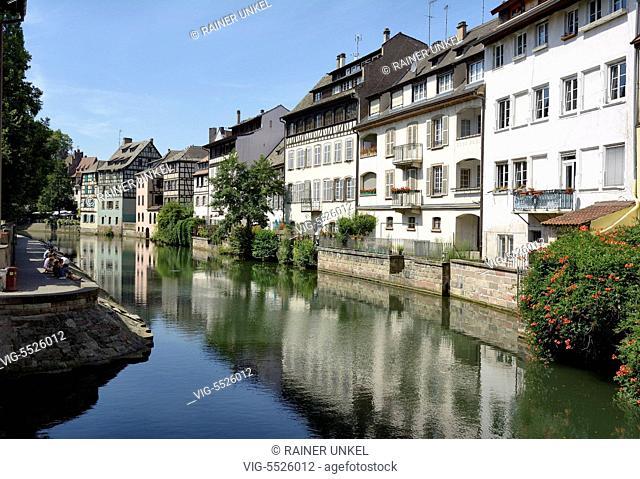 FRA , FRANCE : La Petite France in Strasbourg , 16.08.2016 - Strasbourg, Alsatia, France, 16/08/2016