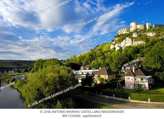 Galliard Castle, Château-Gaillard, Les Andelys, Seine valley, Normandy, France, Europe