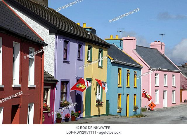 Republic of Ireland, County Cork, Eyeries. Vernacular housing in the picturesque village of Eyeries