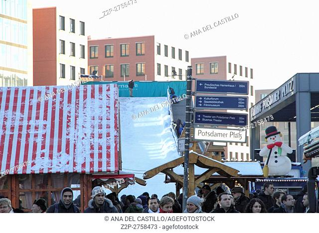 Christmas market Potsdamer Platz in Berlin, Germany