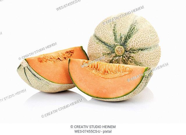 Cantaloupes, close-up