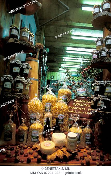 Shop of local products , Kalavryta, Achaia, Peloponnese, Greece