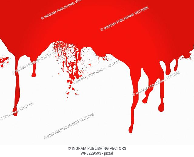 A stream of blood that is ideal as a page header or for a web site