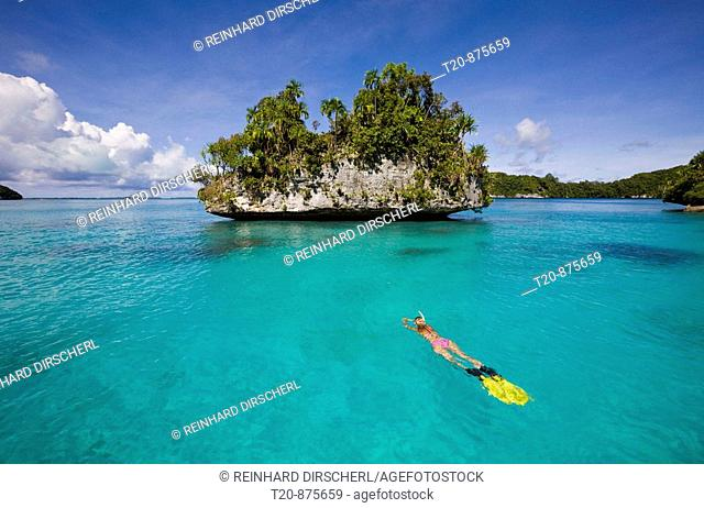 Snorkeling Rock Islands, Micronesia, Palau