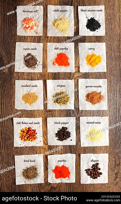 spices, various