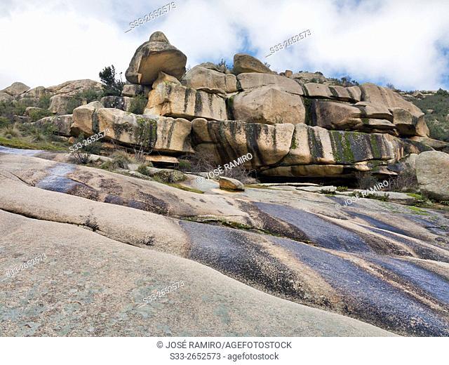 Tranco cliffs in the Pedriza. Sierra de Guadarrama. Manzanares el Real. Madrid. Spain. Europe